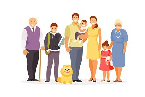 Family vector big set