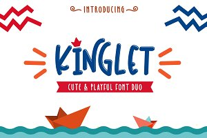 Kinglet / Cute Font Duo With Extra