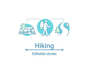 Hiking concept icon