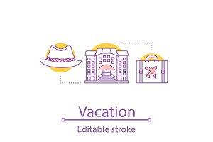 Vacation concept icon
