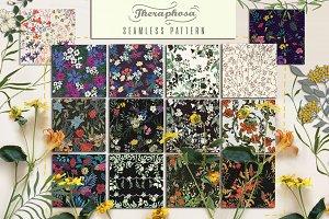 14JPG/EPSseamless floral pattern