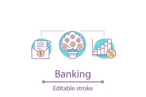 Banking concept icon