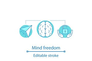 Mind freedom concept icon