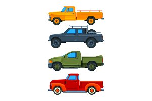Vector pickup trucks. Various