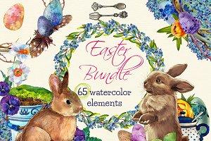 Easter Clipart Bundle - 65 clipart