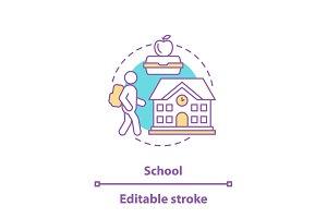 School concept icon