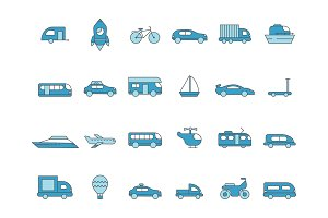 Cars line icons. Transportation