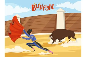 Bullfighting background. Spain