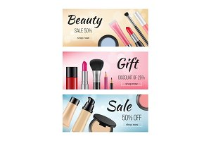 Banners of cosmetics. Design