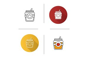 Apple jam jar icon