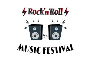 Rock-n-Roll Music Festival Vector
