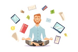 Business yoga concept. Office zen