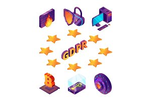 Internet privacy protection 3d. Gdpr