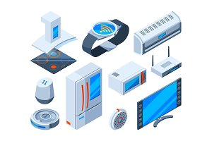 Smart households objects. Home tools