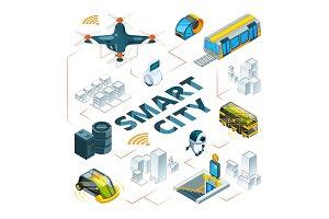 Smart city 3d. Urban future
