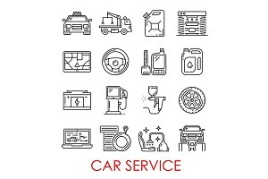 Car service and repair tools