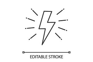 Lightning bolt linear icon