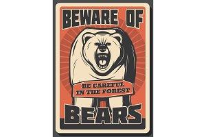 Beware of wild bear hunting season