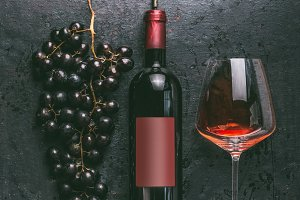 Red wine concept