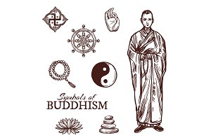 Buddhism religion symbols