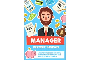 Businessman manager profession