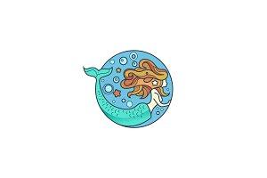 mermaid logo design