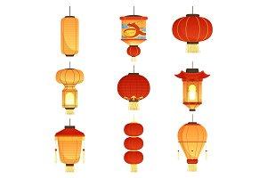 Chinese festival lanterns. China