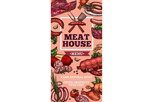 Meat delicatessen and sausages
