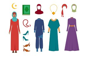 Arab women clothes. National islamic