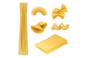 Pasta realistic. Italian food