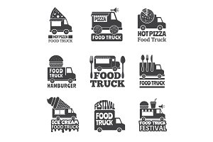 Food truck car. Street catering fast