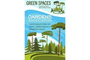 Parks and garden landscape