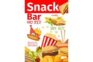 Fast food sandwiches and snacks