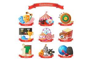 Entertainment Circus Cinema Vector