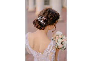 bride's wedding hairstyle from