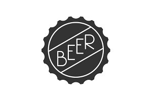 Beer cap icon