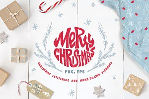 Christmas Lettering & Elements
