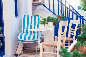 Beautiful terrace exterior with cycl