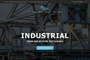 Zeal - Industrial WordPress Theme