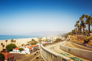 California incline in Santa Monica