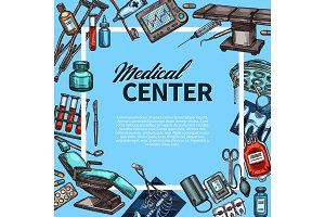 Medical center and medicine items