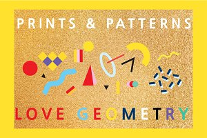 LOVE GEOMETRY | 18 patterns & prints