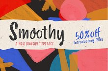 Smoothy 50% off by  in Script Fonts