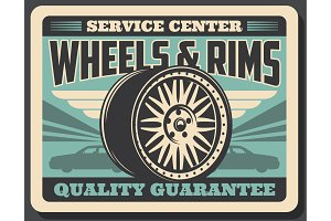 Car wheels and rims service