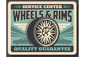 Car wheels and rims service