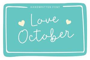 Love October | Handwritten Font