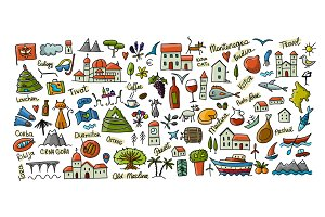 Travel to Montenegro, icons