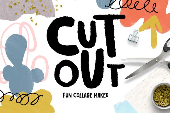 cutout fun collage maker graphic objects creative market