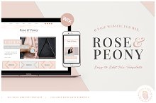 ROSE & PEONY | WIX Blog Template by  in Websites