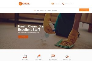 Evrus Carpet Cleaning Service Theme